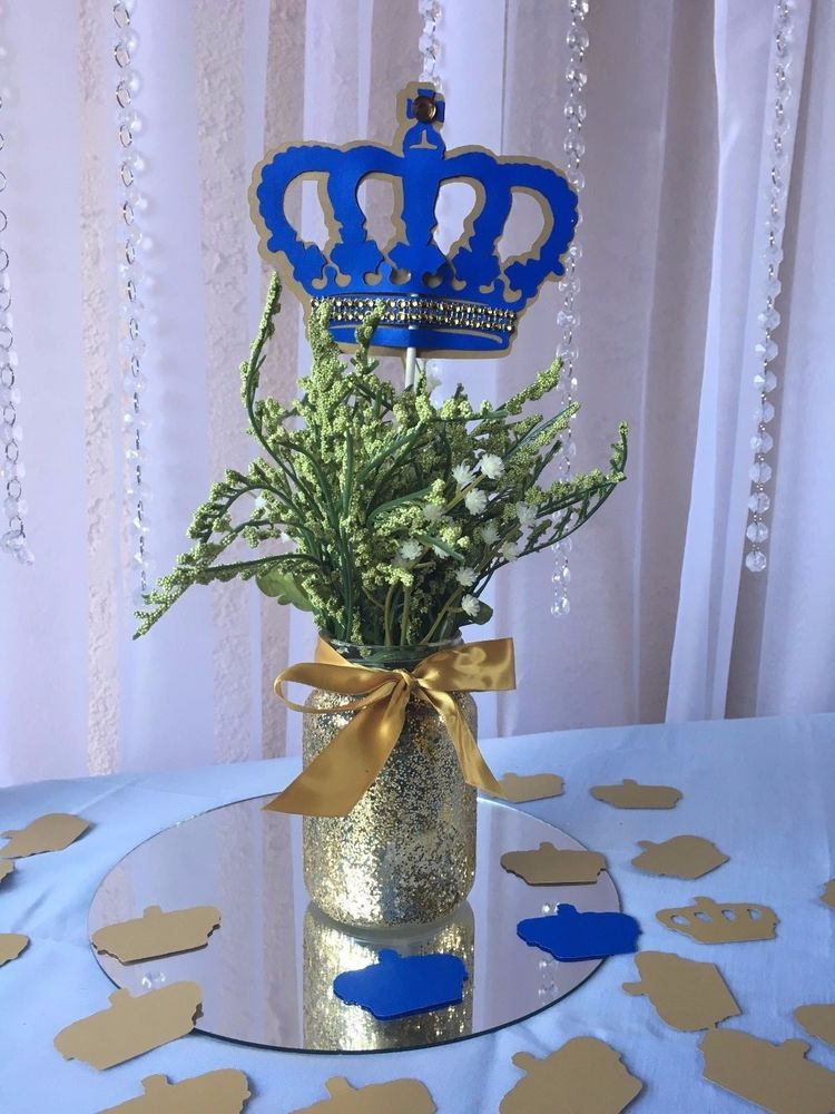 Royal crown blue and gold prince