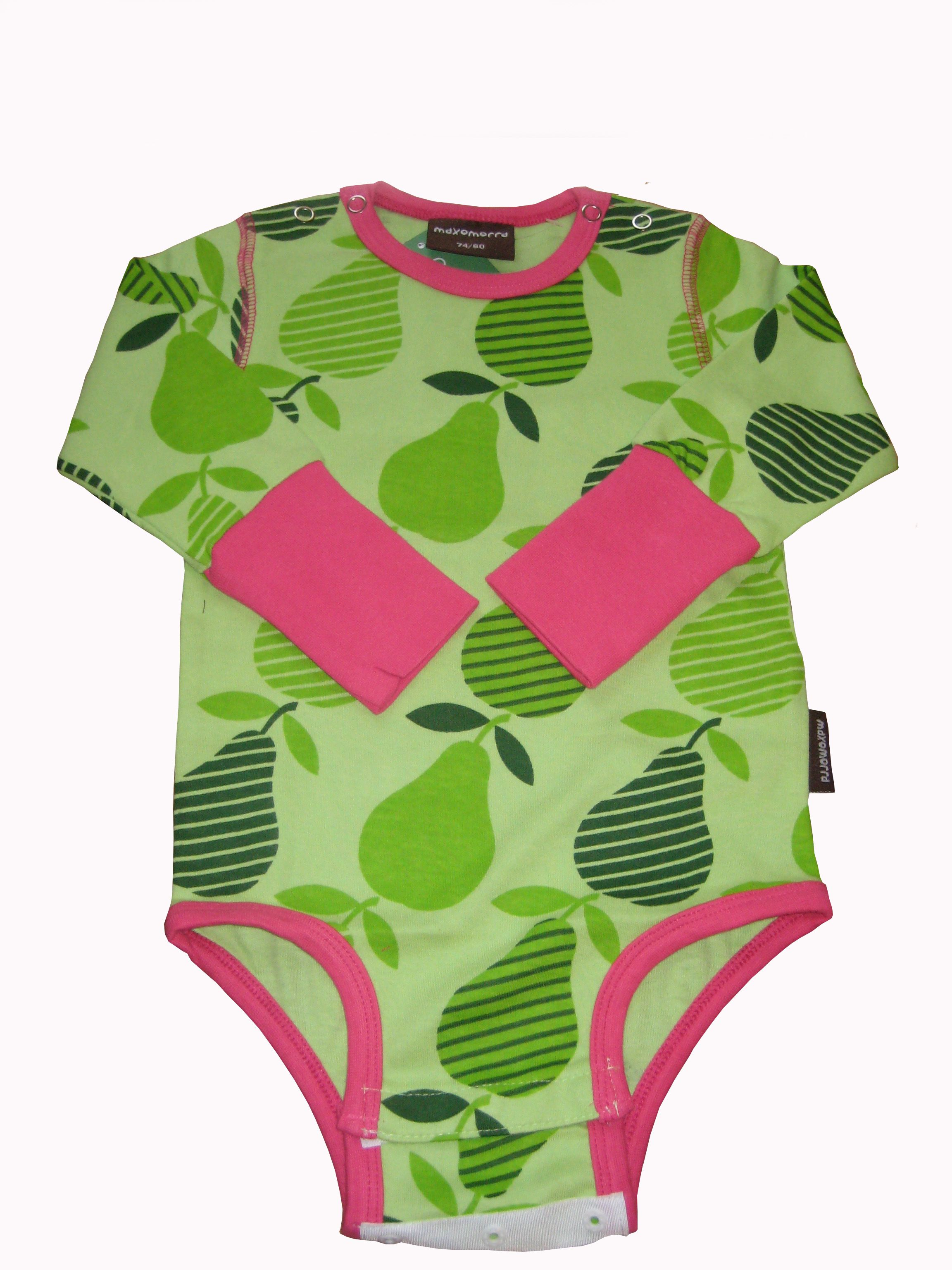Maxomorra Pears esie Colourful original baby clothes from one of