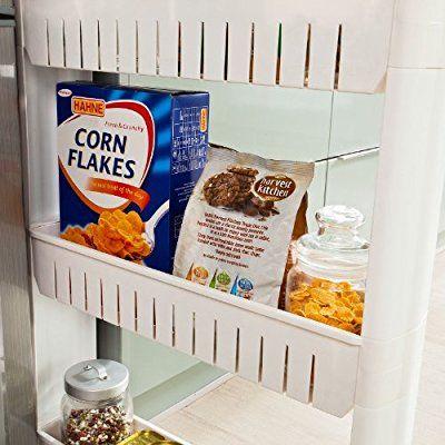 Sobuy frg40 w tag re placard alc ve tour de rangement Etagere placard cuisine