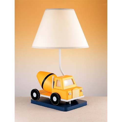 Cal Lighting Cement Truck Lamp Kidsroom Cement And Kids Rooms - Childrens lights for bedrooms