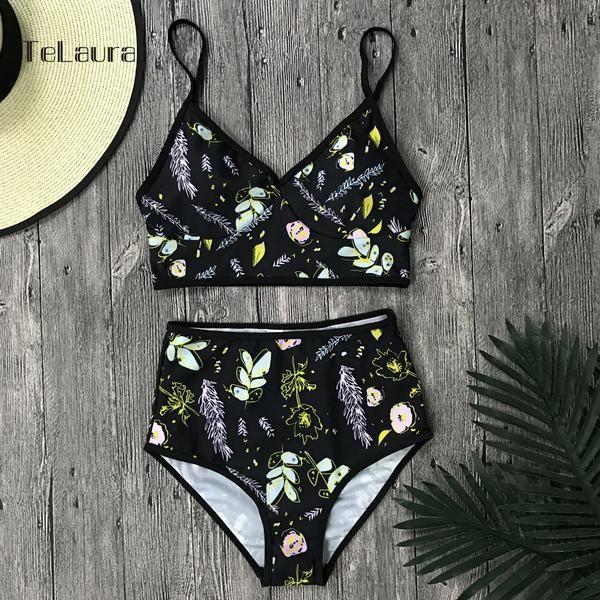 Sexy High Waist Bikini Swimwear Women Swimsuit Push Up Brazilian ...
