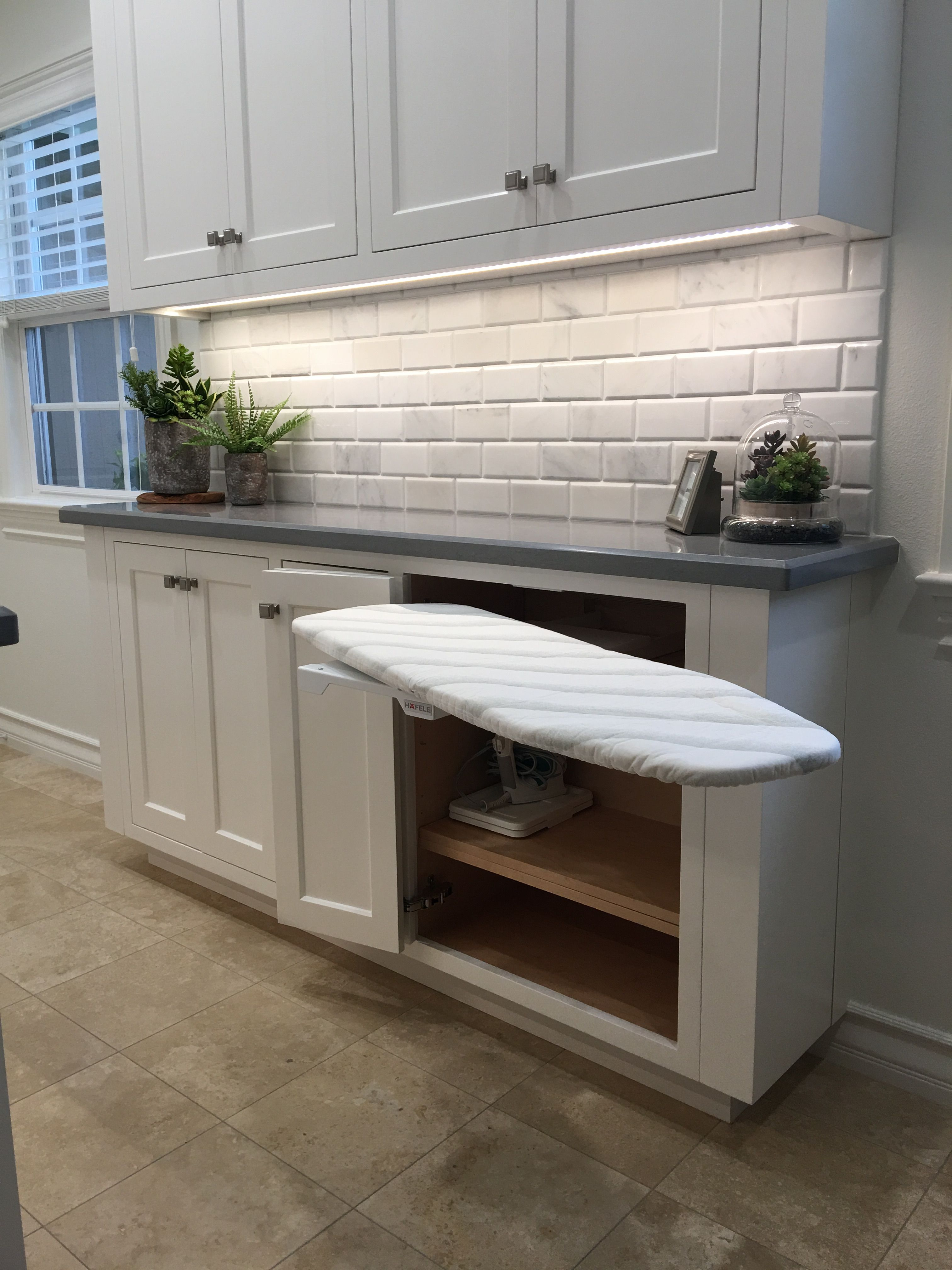 Laundry Room Butler S Pantry Ironing Board That Folds In Half And