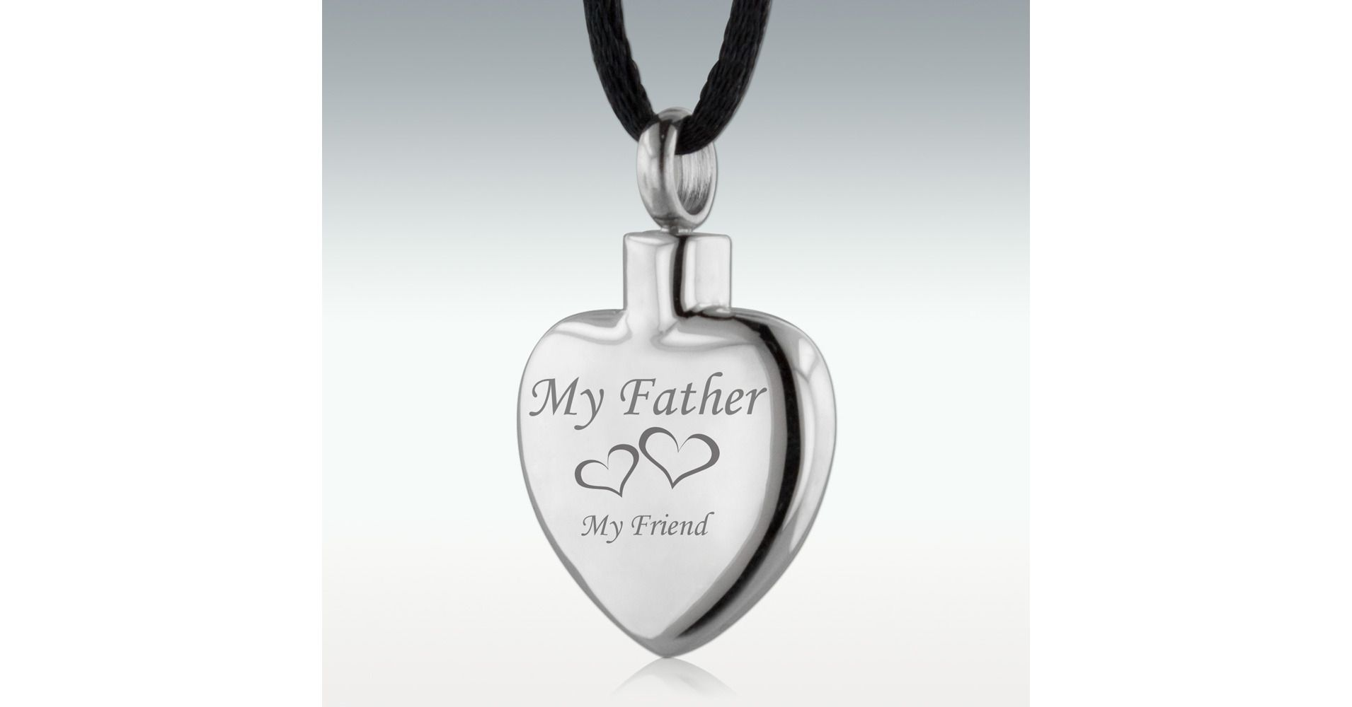 My Father My Friend Heart Stainless Steel Cremation Jewelry