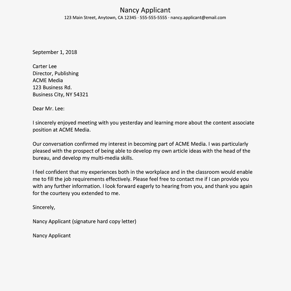 Pin On Interview Thank You Letter Interview thank you email template
