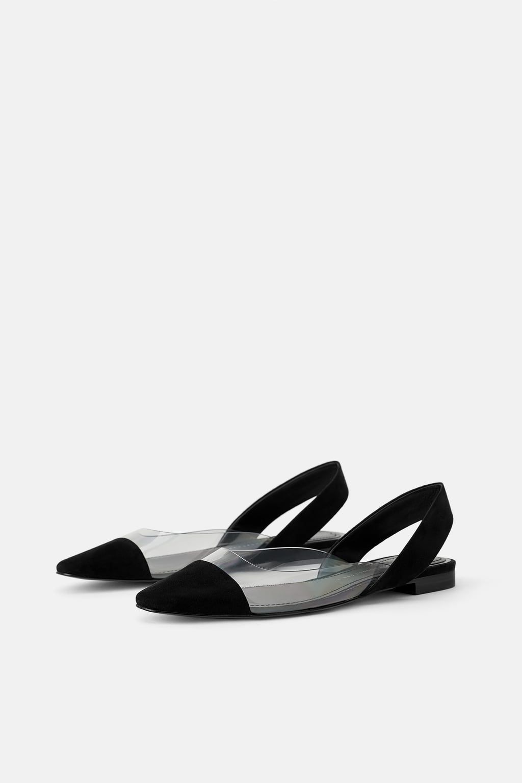 0f4e9ef7a2fd Image 1 of LOW SLINGBACKS WITH VINYL from Zara