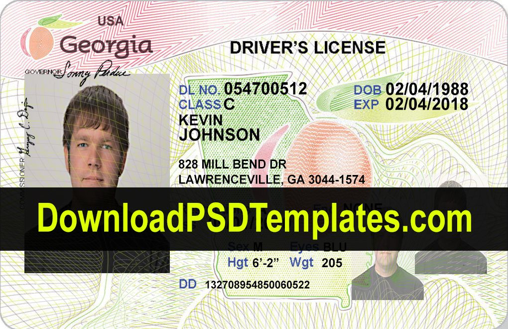 Download Georgia Driver License Template Psd Vector Hd Http Www Downloadpsdtemplates Com Georgia Driv Psd Template Downloads Drivers License Id Card Template