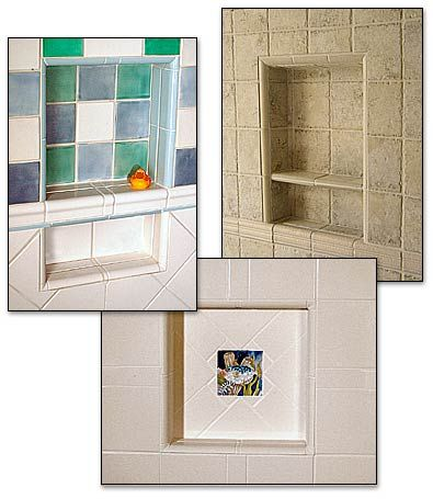 pre-formed ready to tile shower niches are easy to install