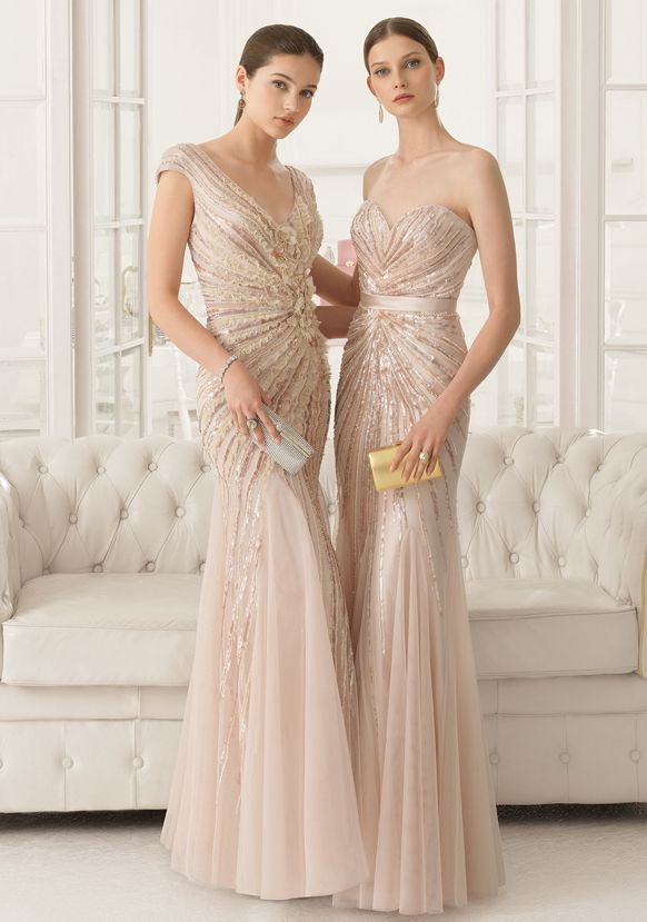 2017 Blush Pink Sequin Bridesmaid Desses By Airebarcelona Fiesta 3