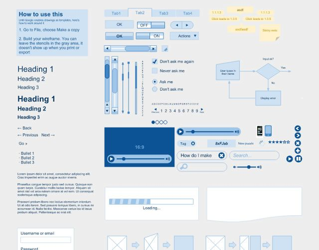10 useful google docs templates for web & mobile app designers, Presentation templates