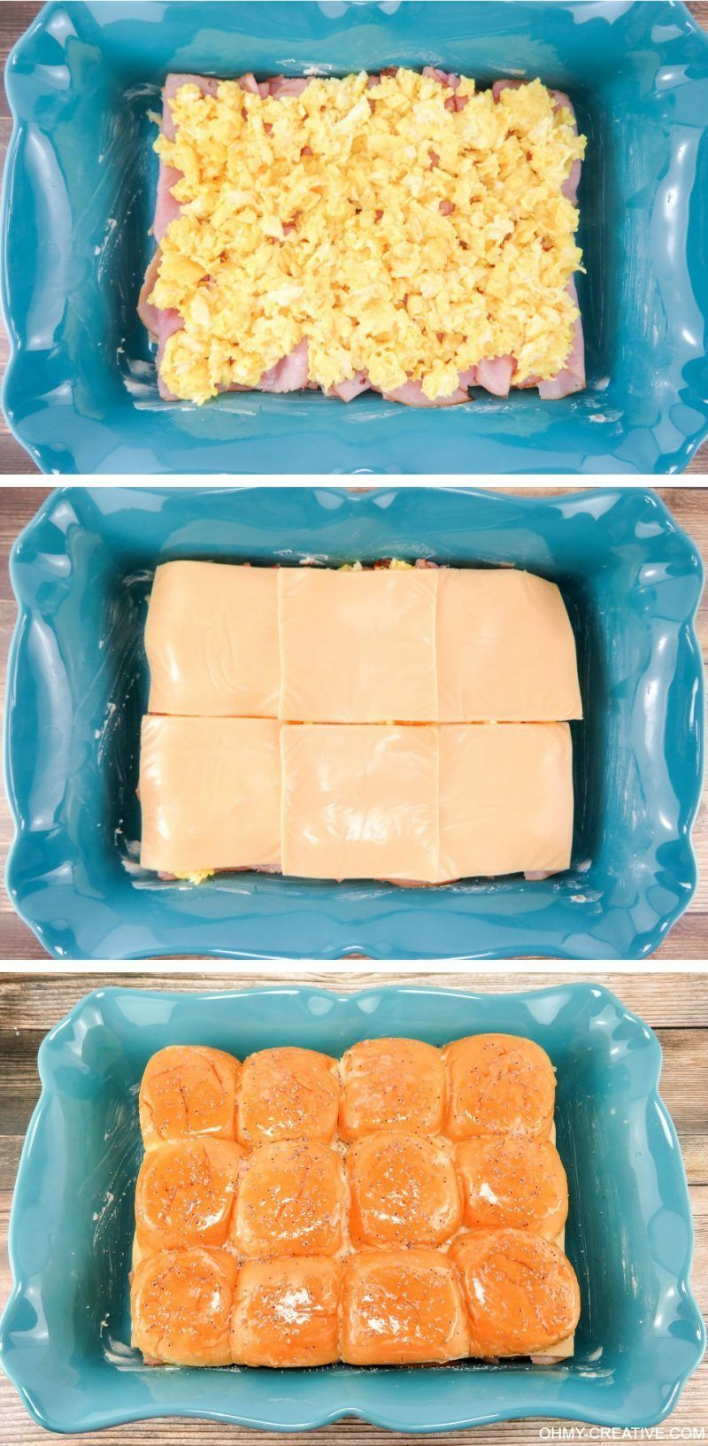 Breakfast Hawaiian Ham And Cheese Sliders #breakfastslidershawaiianrolls