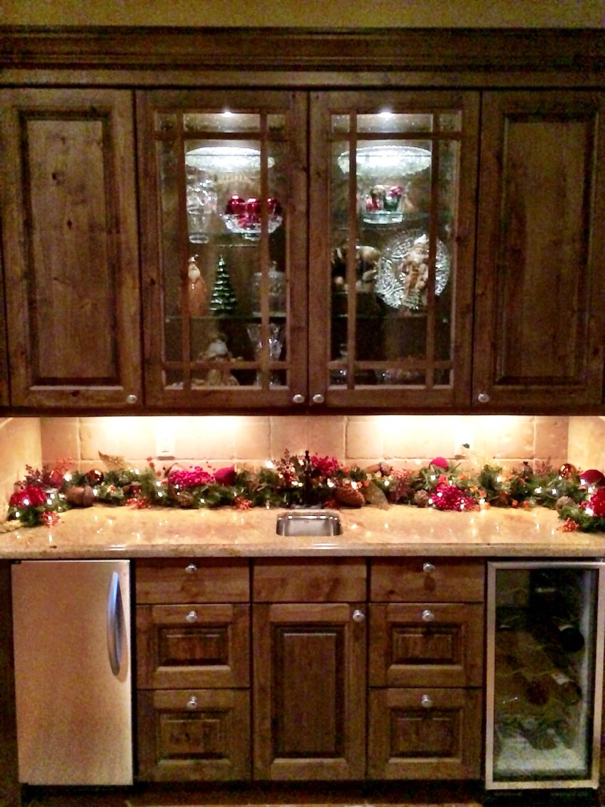 butler s pantry xmas christmas deco butler pantry christmas decorations on kitchen cabinets xmas decor id=41251