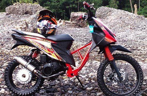 Modifikasi Motor Matic Jadi Trail Motor Honda Offroad