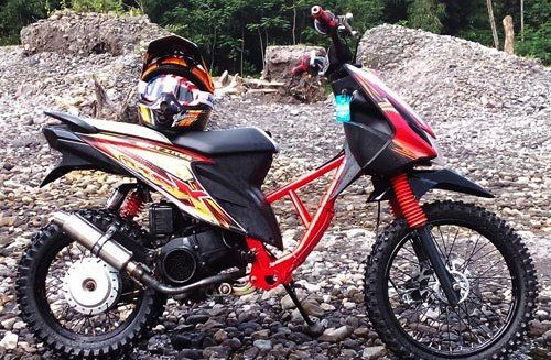 Modifikasi Motor Matic Jadi Trail Motor