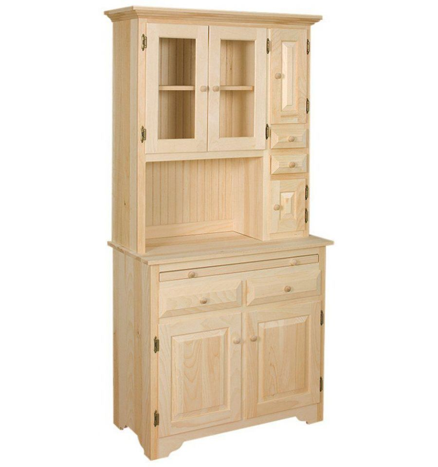 Details About Amish Unfinished Solid Pine Hoosier China Pantry Storage Cabinet Hutch Country In 2019 Houses Pantry Storage Cabinet Unfinished Furniture