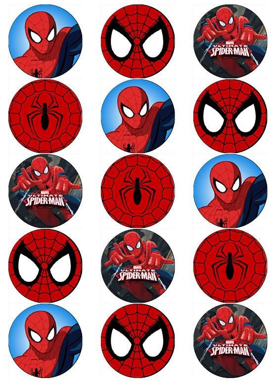 Remarkable image with free printable cupcake wrappers and toppers with spiderman