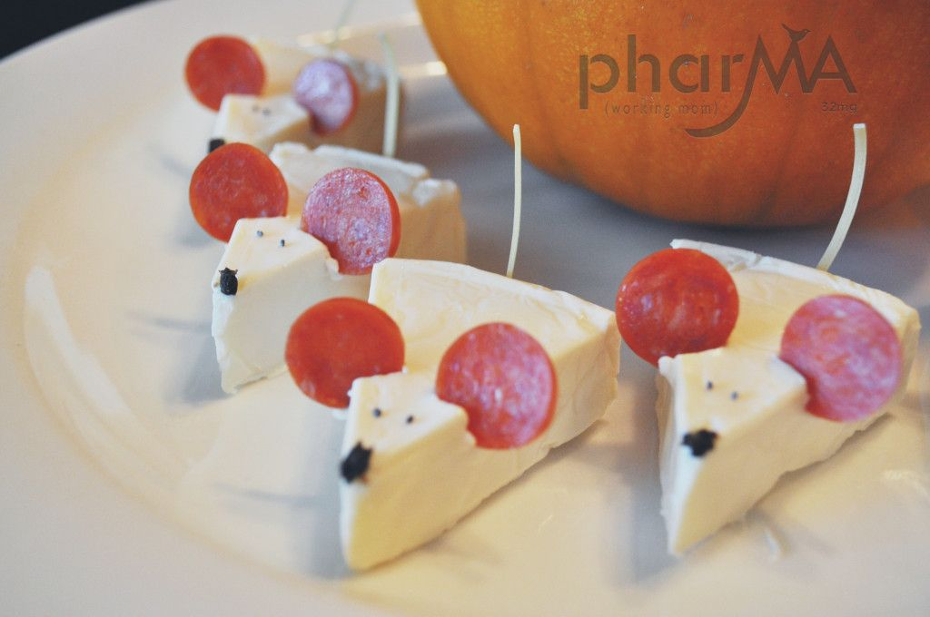 Ratones de queso y pepperoni #Snacks #Kids #Mouse