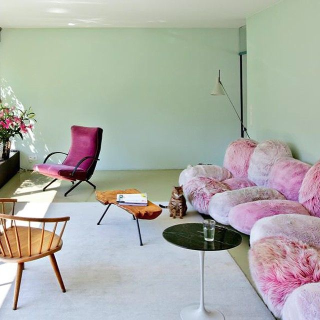 "62 Likes, 5 Comments - Homegirl Zine (@homegirlzine) on Instagram: ""Best couch ever 🍥 The Berlin home of artist Nina Pohl via @livingcorriere"""