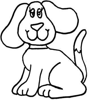 Simple Dog Coloring Page Dog Coloring Page Easy Drawings Easy