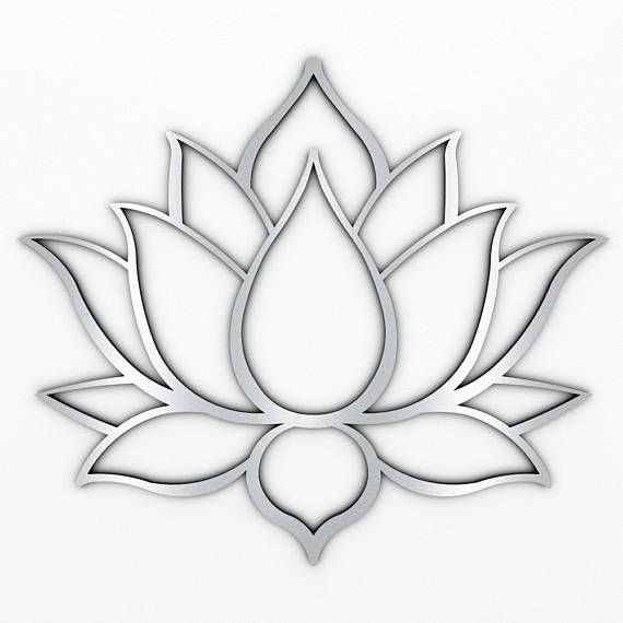 XL Lotus Flower Metal Wall Art with Brushed Metal Finish (measures 48 x 41) Mark #lotusflower
