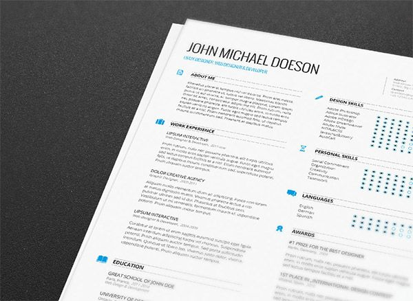 20 Free Editable CV Resume Templates for PS \ AI Resume cover - free resume cover letters
