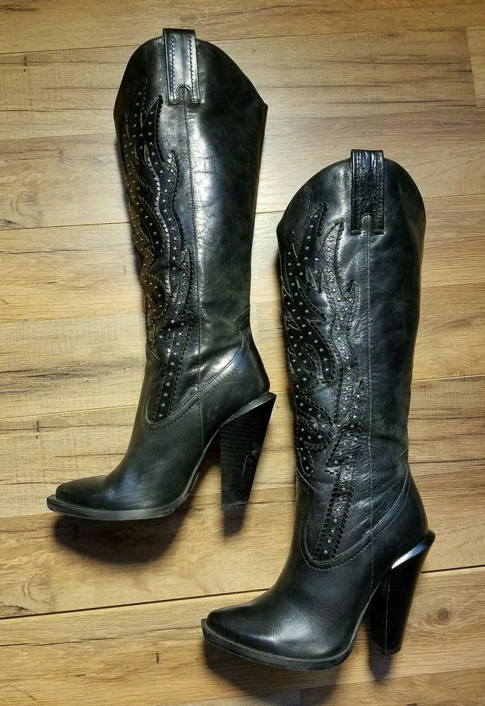 245d42e3bd Jessica Simpson Abilene Cowboy Cowgirl Boots - Women s 5 1 2 B 35 1 2   JessicaSimpson  CowboyWestern