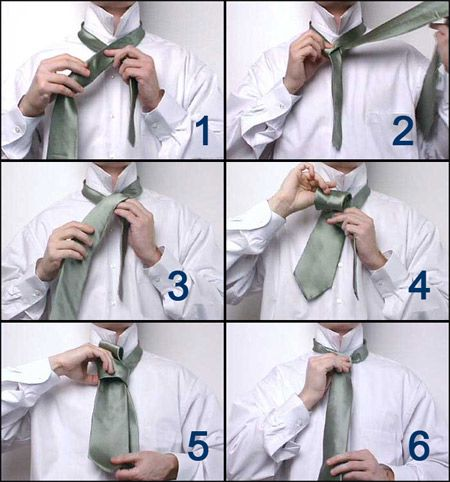 how to tie a tie in 6 steps
