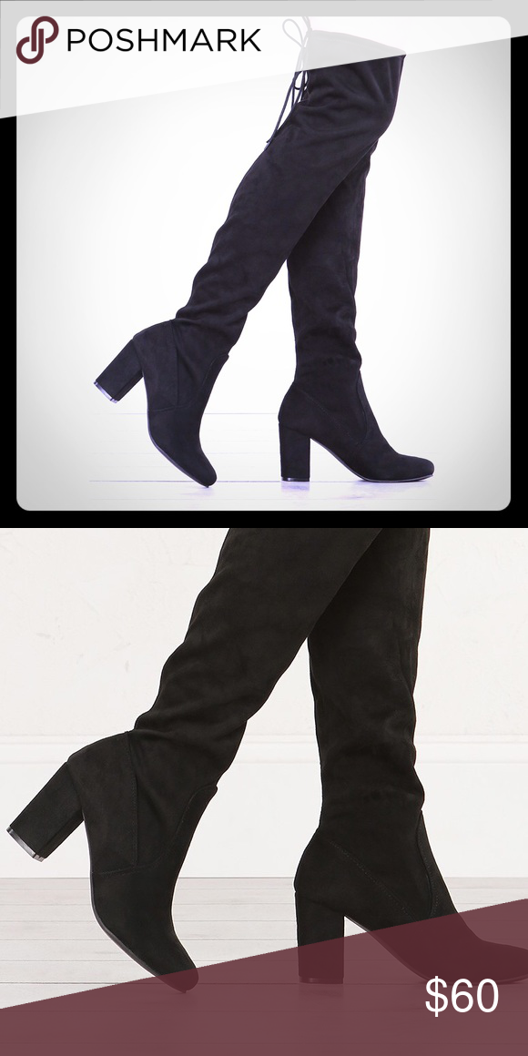 f7d76b7ac67 Black Chinese Laundry Black Suede Boots Knee High- worn twiceBOX INCLUDED !  South Moon Under