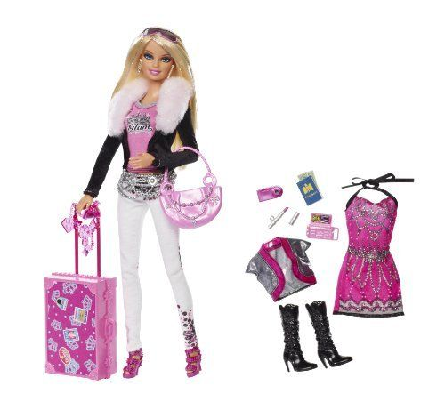 BARBIE DOLL  BIG ROUND DARK PINK SUNGLASSES DOLL ACCESSORY