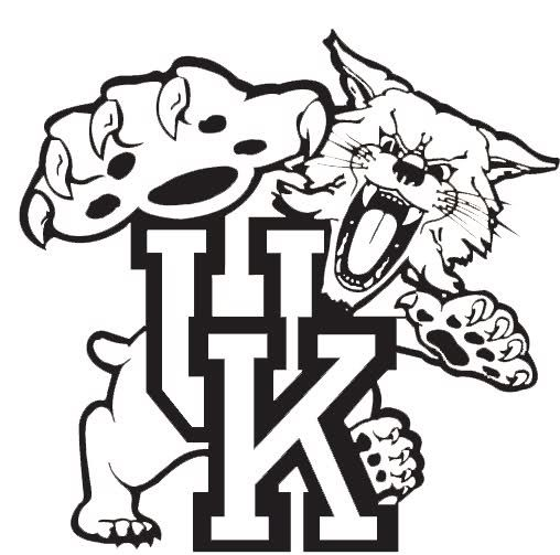 Kentucky university basketball logo for Kentucky wildcats coloring pages