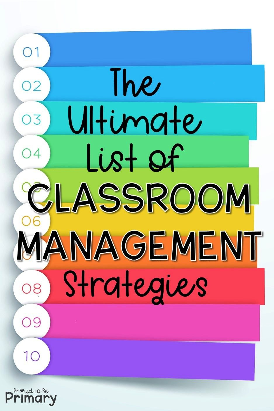 Ultimate List of Classroom Management Strategies The ultimate list of classroom management strategi