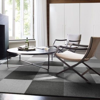 Who knew that tone on tone gray on a charcoal gray cement floor