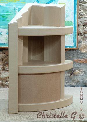Meuble d\u0027angle ou meuble de coin construit en carton móveis de