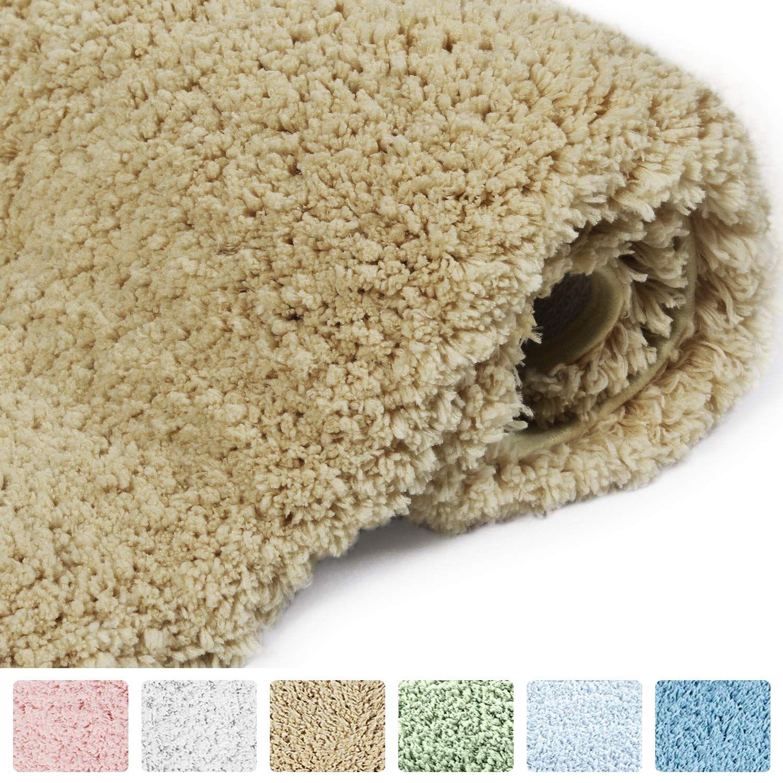 Norcho Bath Rug Soft Microfiber Water Absorbent Shower Door