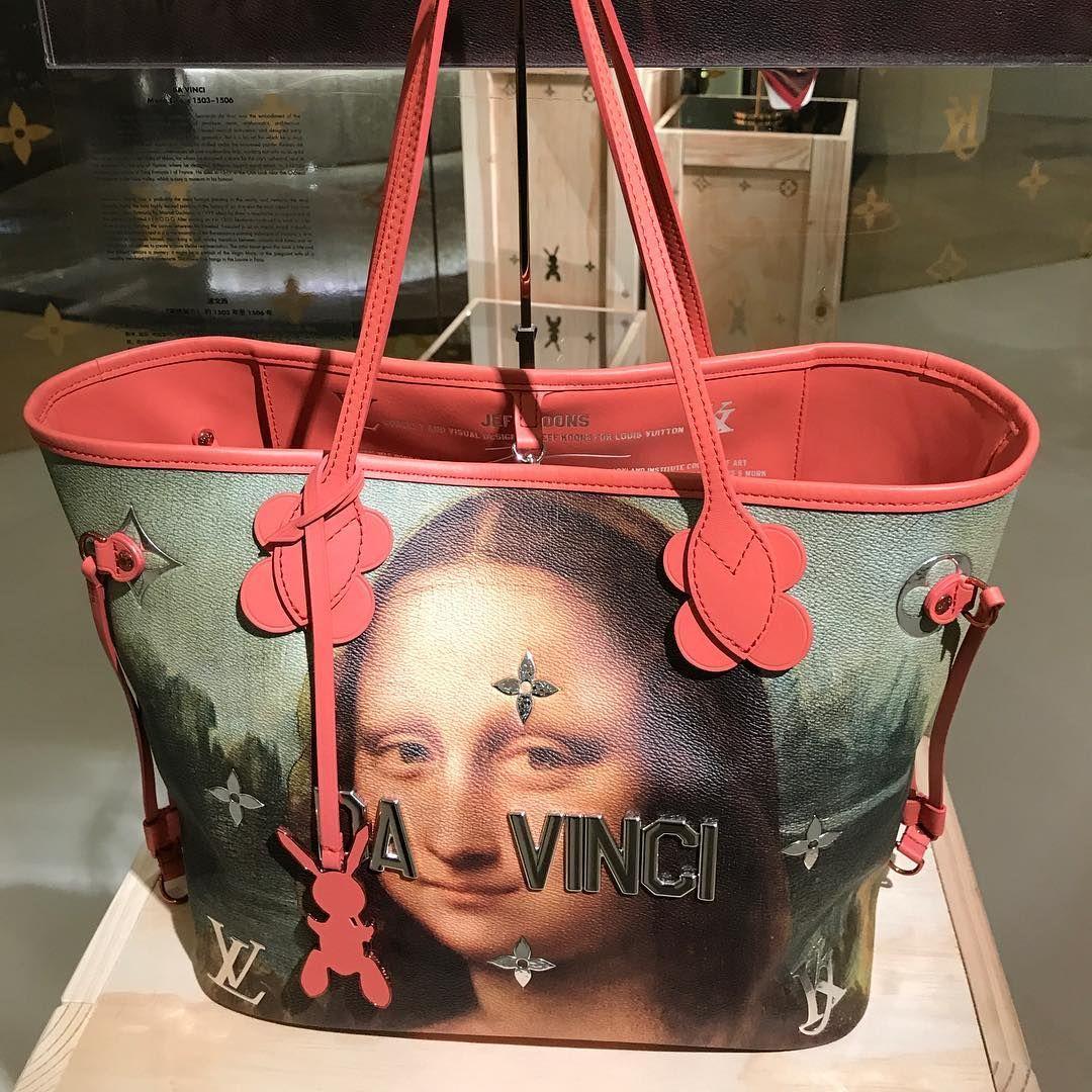 e6e0a8f673ef Louis Vuitton Master Collection. Louis Vuitton Neverfull Handbags With Mona  Lisa Printing.