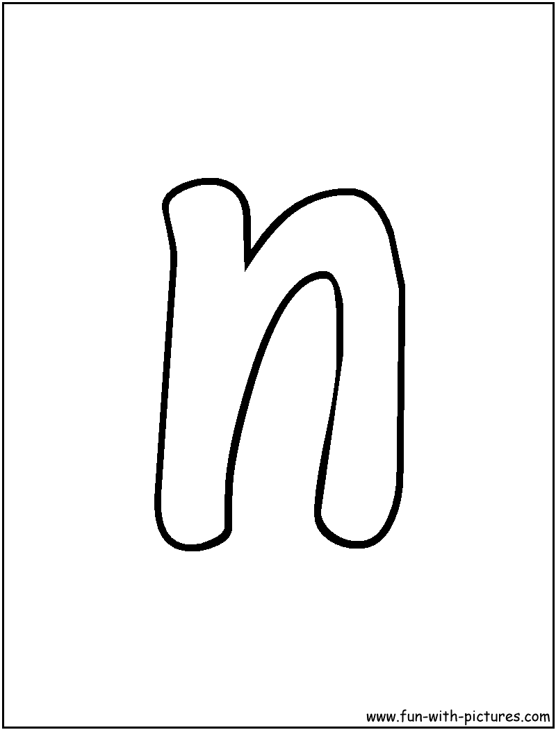 Coloring pages for letter n - The Letter N