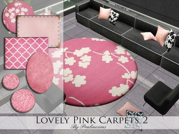 Lovely Pink Carpets by Pralinesims - Sims 3 Downloads CC Caboodle ...