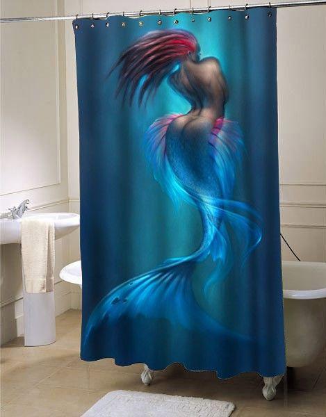 Artwork Of Mermaids Shower Curtain At Mermaid Shower Curtain Bathroom Decorating Shower Curtain Bathroom Decor