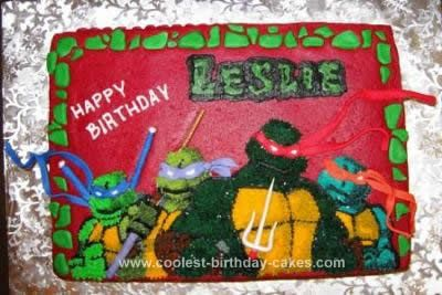 Cool Homemade Teenage Mutant Ninja Turtle Cake Teenage mutant