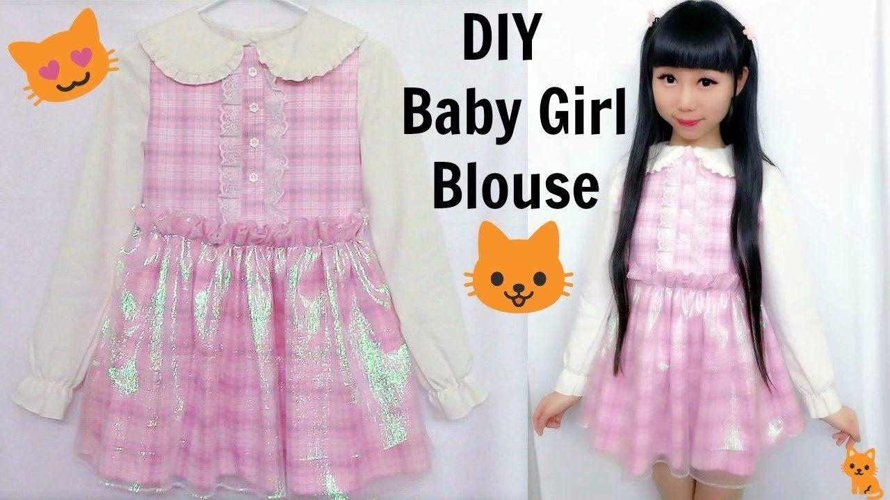 1153f3db09 DIY Baby Girl Shimmering Blouse