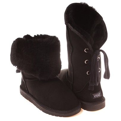 Jezebet Ugg Short Boots-OB028-BLACK $120.00 on buyinvite.com.au