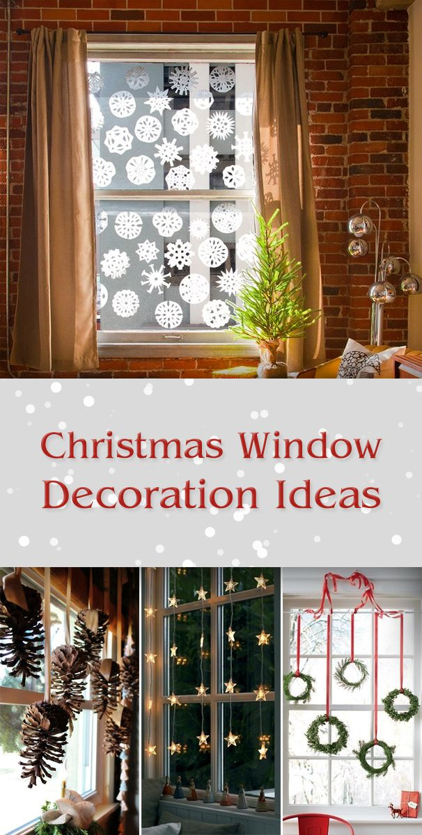 TOP 10 Bright and Sparkling Christmas Window Decoration Ideas | Pinterest | Christmas window decorations Window and Decoration & TOP 10 Bright and Sparkling Christmas Window Decoration Ideas ...
