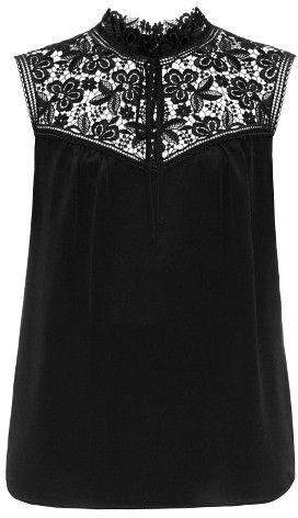 ERDEM Julisa sleeveless silk-cady blouse
