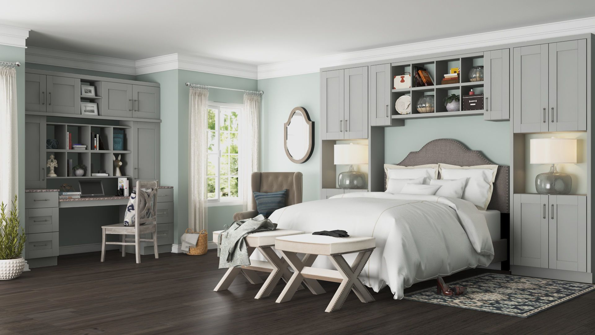 Best Shaker Pantry Cabinets In Dove Gray – Kitchen – The Home 640 x 480
