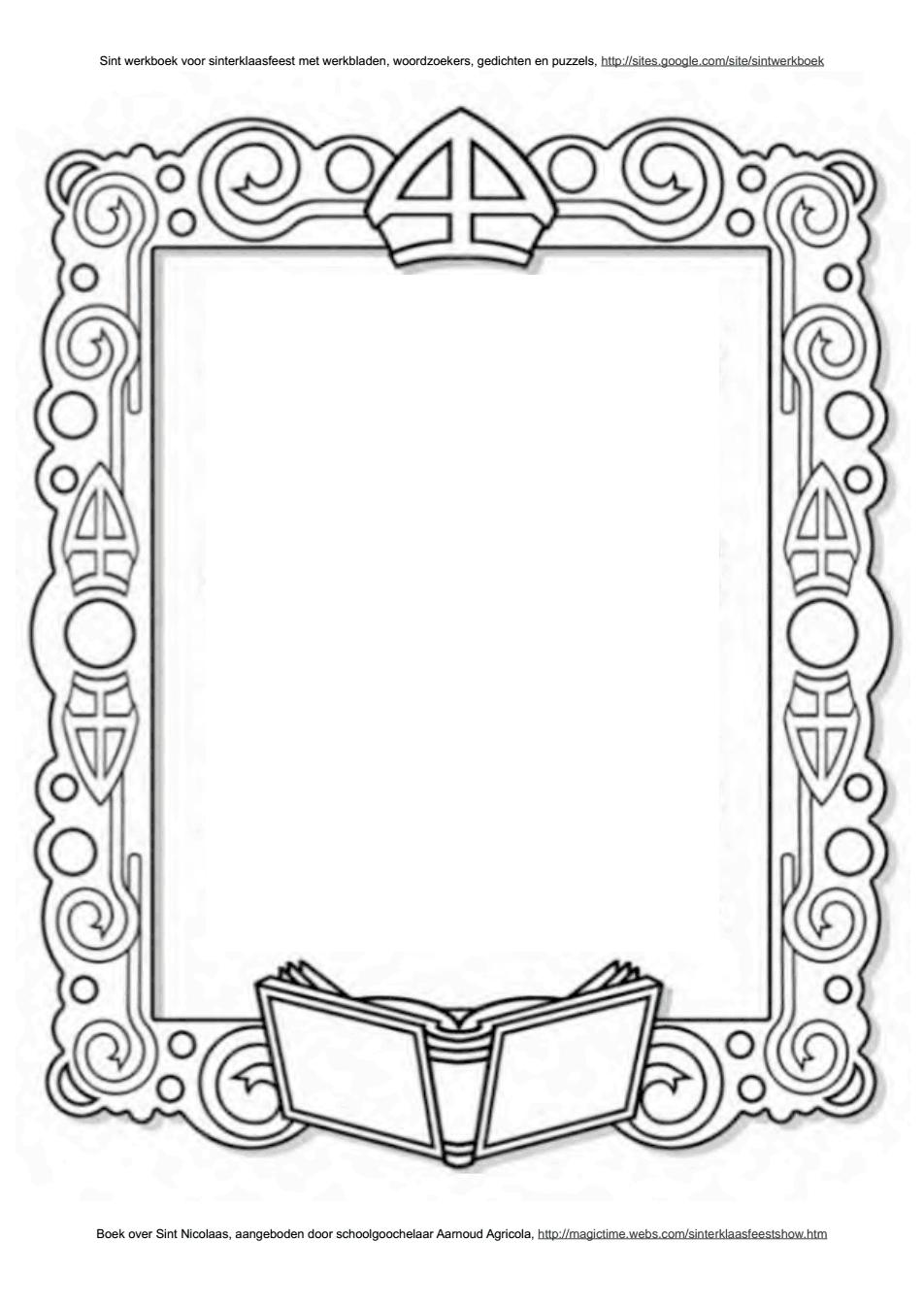 Voorkeur Kleurplaten Sinterklaas Brief | Nvnpr DR31
