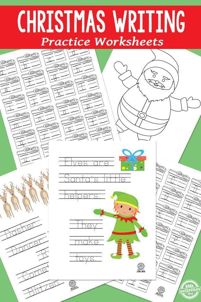 CHRISTMAS WRITING PRACTICE WORKSHEETS   Creatividad