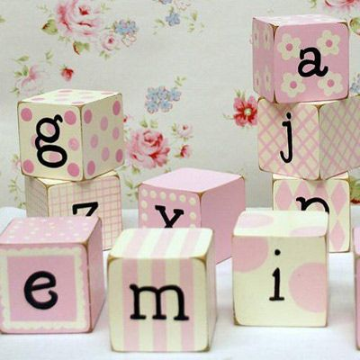 Spell out a name or word of inspiration! New Arrivals Letter Block Pink #laylagrayce #baby #babyshowergift #nursery