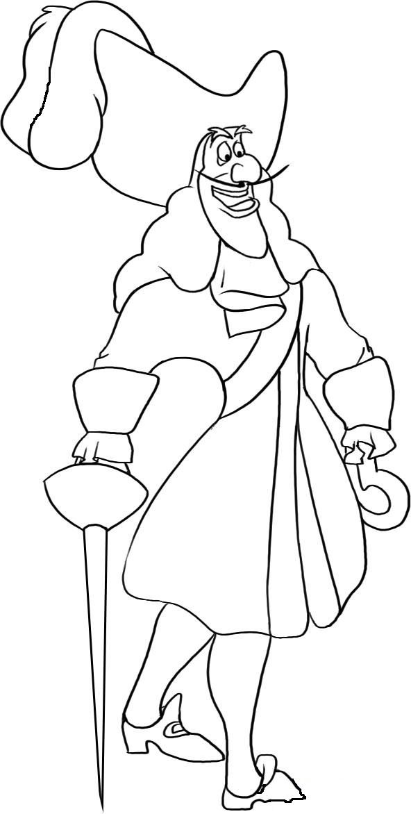 Captain Hook Cool | Peter Pan Coloring Pages | Pinterest | Captain ...