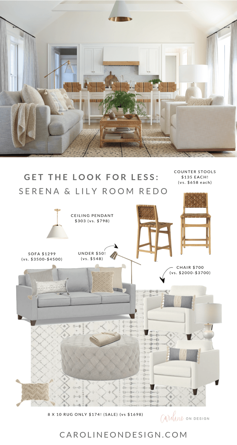 Serena & Lily Look for Less: Family Room Redo images