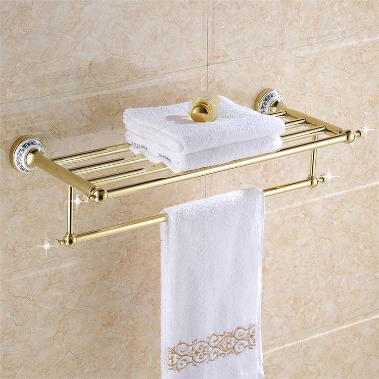 浴室タオルラック タオル掛け タオル収納 ハンガー バス用品 真鍮製 Ti