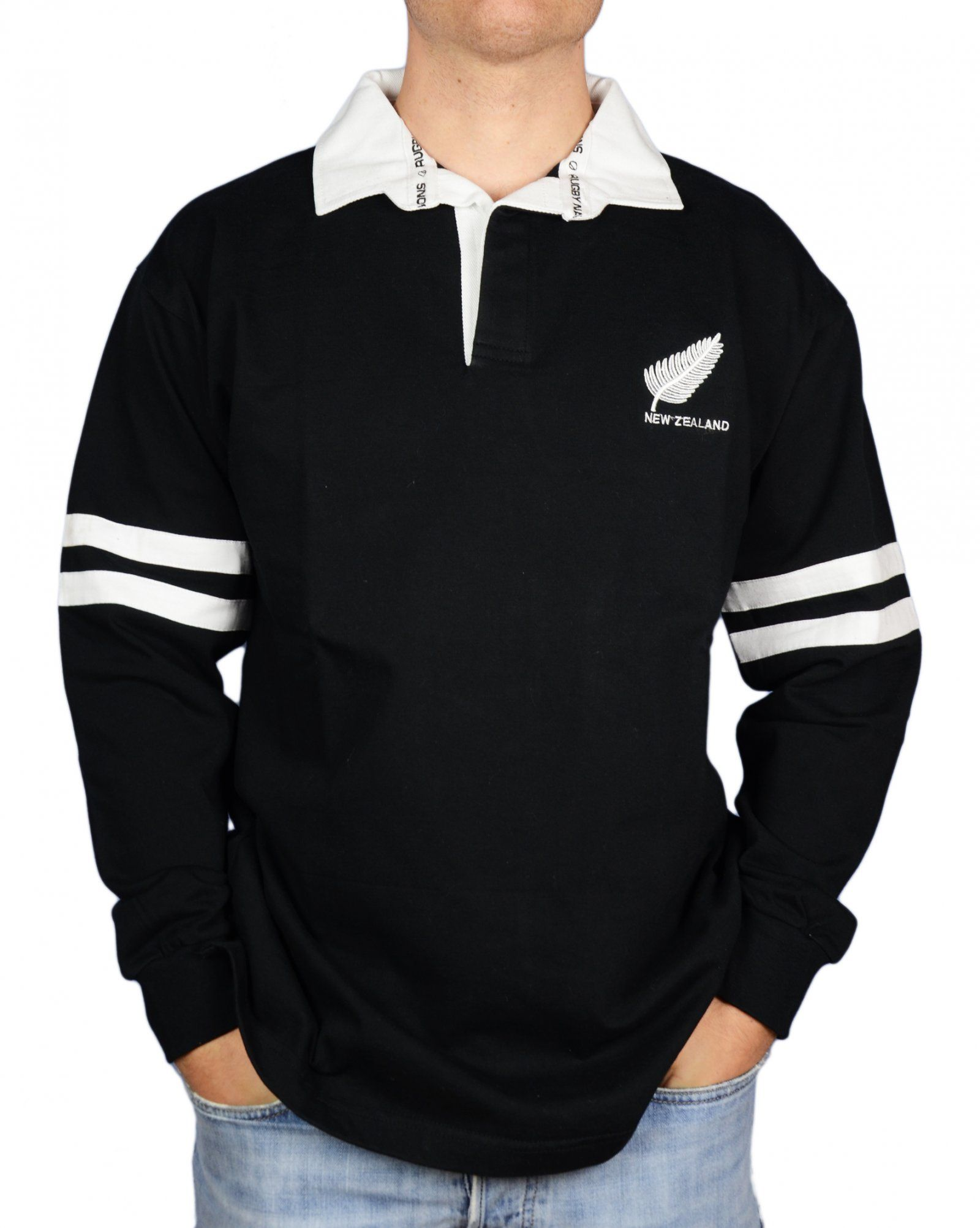 All black t shirt new zealand - Men S Rugby Shirt New Zealand All Blacks